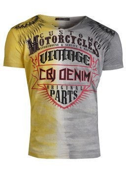T-SHIRT CIPO BAXX CT526 ANTHRACITE-YELLOW