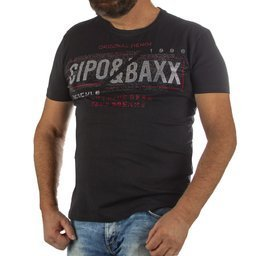 T-SHIRT CIPO BAXX CT611 BLACK